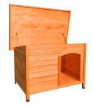 Niche à chien toit plat pour chiens petits et moyens / 0,92 m2 /  toit ouvrant bitumé