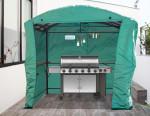 Bâche de protection pour carport pour barbecue CAR 2415 AC / polyester traité polyuréthane 110 gr/m²